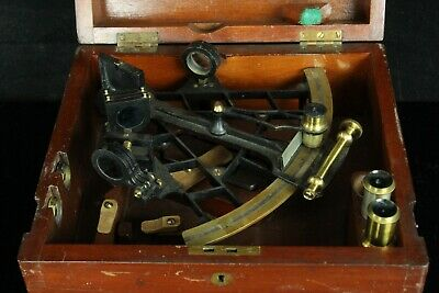 AUG119 ANTIQUE JOHN LILLEY SON Ltd LONDON&NORTH SHIELDS SEXTANT W/CASE