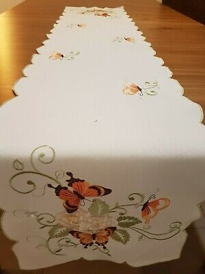 "Rectangle 40*180cm Premium Polyester Linen/Look ""Butterfly"" Table-Runner"