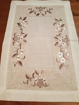 (Set Of 4) 30cm*45cm(oatmeal leaf) Polyester Linen/Look Placemats