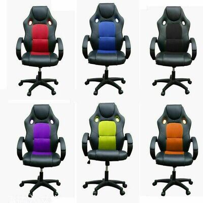 Office Chair High Back Racing Chair Computer Swivel Visitor Work Chair 6 Colours