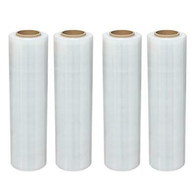 "4 Roll 18 "" x 1500FT 80 Gauge Pallet Wrap Stretch Film Clear Hand Shrink Wrap"