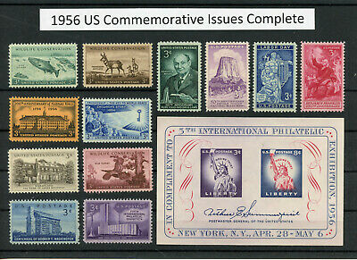 US 1956 Commemorative Year Set Complete - Pristine Mint Never Hinged Condition