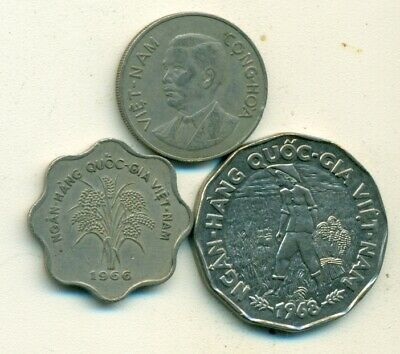 3 DIFFERENT 5 CENT COINS from SINGAPORE (2011, 2012 & 2013)