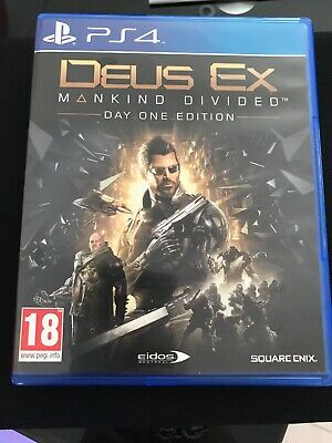 Deus Ex: Mankind Divided for PS4 in MINT CONDITION