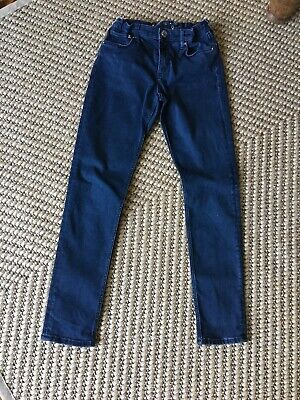 Boys H&M Stretch Skinny Jeans Dark Blue/Black Age 10-11