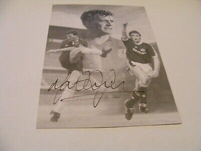 MARK HUGHES Manchester United Utd Chelsea Wales Signed Photo Autograph