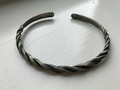 Celtic 1st Century Silver Decorated Snake Bracelet