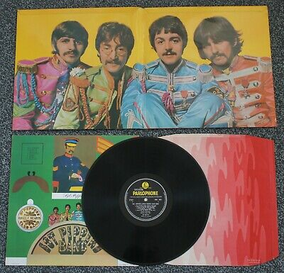 BEATLES SGT PEPPER - RARE 1967 1st PRESS UK PARLOPHONE MONO WIDE SPINE COMPLETE