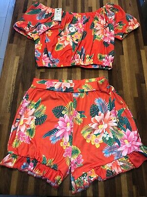 River Island Girls Shorts And Cropped Top Set Outfit Age 11-12 BNWT