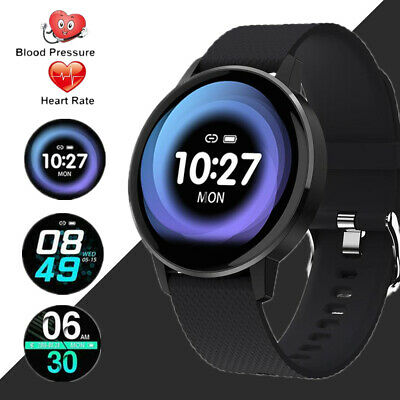 For iPhone Samsung Sport Smart watch blood pressure Fitness Trackers Pedometer