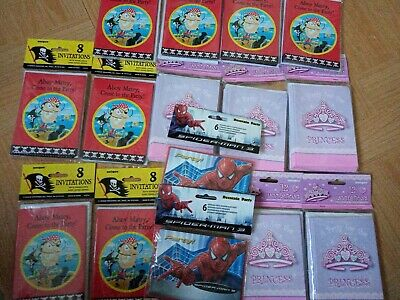 Party Invitations Job Lot Of Over 100