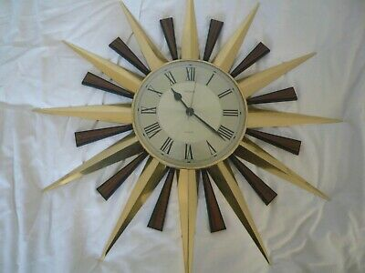 Reproduction retro Metamec Starburst/Sunburst wall clock,