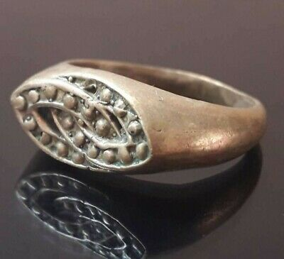 Ancient Ring Bronze Viking Stunning Pendant Norse Design Old Jewelry Very Rare