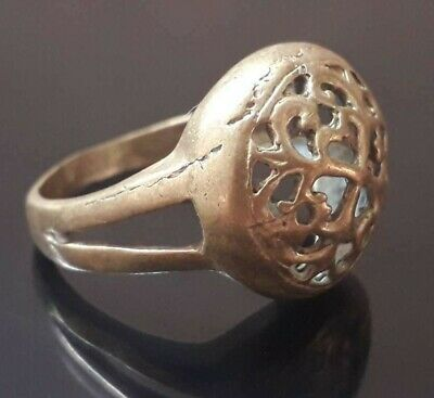 Antique Viking Ornament Ring Bronze Unique Jewelry Very Rare Old Quality