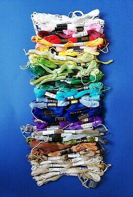 Job Lot Vintage Embroidery Threads, Stranded Cottons x 60+ mostly Anchor branded