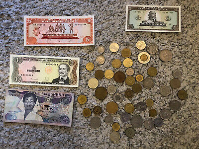 Old World Currency Lot Foreign Money, Over 50 Items