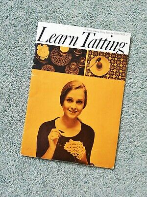 Vintage Tatting Pattern Book by Coats - Learn Tatting 1960s