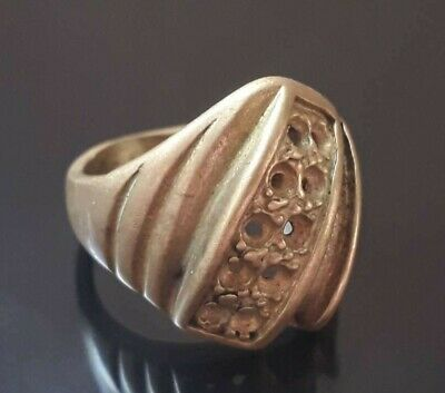Antique Ring Bronze Fabulous Quality Artifact Very Rare Ornament Old Jewelry