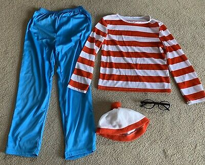 Where's Wally Dressing Up Fancy Dress Costume Outfit 7 8 9 Boys Girls