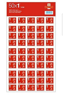 50 x Royal Mail 1st Class Large Letter size first  Class stamps - free delivery