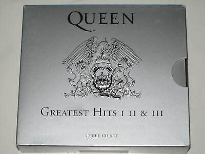 QUEEN-GREATEST HITS Vol.1+2+3 THE PLATINUM COLLECTION 3 X CD BOX SET DAVID BOWIE