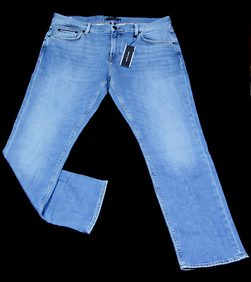 Tommy Hilfiger Jeans Hose Chino Straight Denton Bainville Blue Baumwolle blau