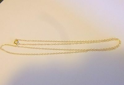 14K Solid Gold  Link Chain 20 Inch