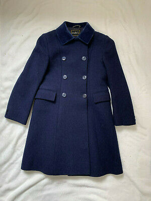 JONELLE DP Girl's Navy Coat. Size 8 Years approx. Very Good Condition.