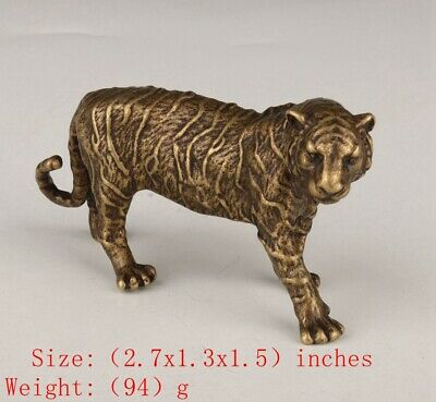 Unique Chinese Bronze Statue Animal Tiger Solid Mascot Collection Gift