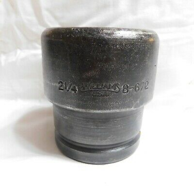 """Williams 1-1/2"""" Drive 2-1/4"""" Impact Socket 8-672 - 6 Point - Made in the USA"""