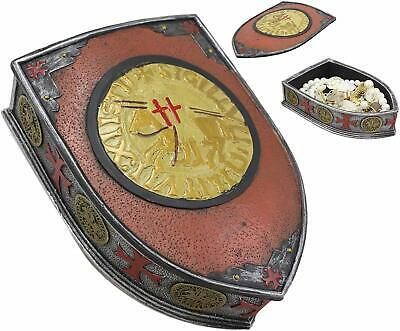 Medieval Coat Of Arms Heraldry Shield Templar Crusaders Decorative Box Figurine