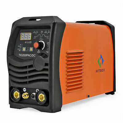 HITBOX TIG 200 AC/DC 220V Pulse Inverter Welder Aluminum ARC TIG Welding Machine