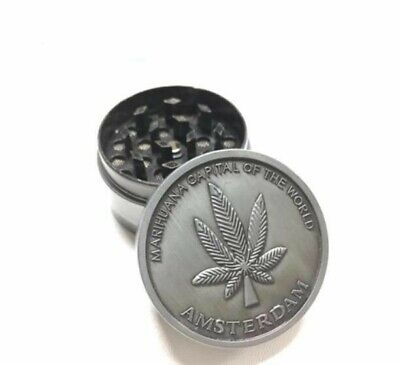 Tobacco Herb Grinder Spice Herbal Alloy Smoke Crusher 4 Piece Metal Chromium 1.5