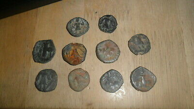 KUSHAN - LOT OF 10 BRONZE AE COINS VARIOUS RULERS Ca 100 - 300 AD  INV KUS1