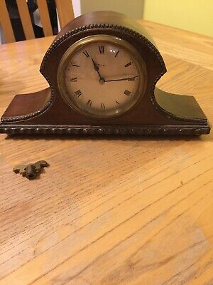Very Rare Vintage 1920's French 8 Day Mantle Clock Signed. £25.99p No Reserve !