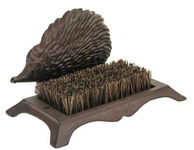 Rustic Cast Iron Hedgehog Design Wellington Wellies Boot Shoes Mud Cleaner Brush