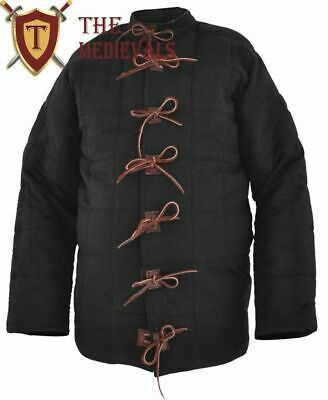 Jacket Warrior Black Padded Gambeson LARP Clothing Medieval Armour