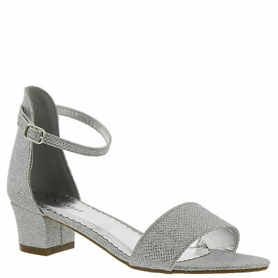 Nine West Kids Eevah Girls' Toddler-Youth Sandal - Silver/Metallic