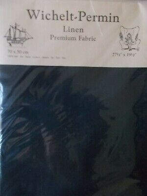 "Cross stitch Fabric Linen ""Black "" New by Permin 28ct   27.5"" x 19.5"""