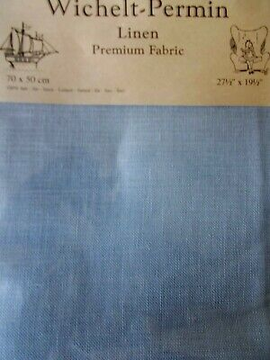 "Cross stitch Fabric Linen ""Dusty Miller "" New by Permin 28ct   27.5"" x 19.5"""