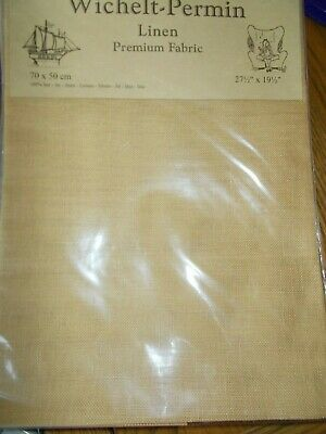 "Cross stitch Fabric Linen ""Desert Sand "" New by Permin 28ct   27.5"" x 19.5"""