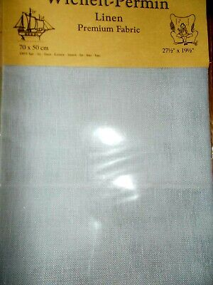 "Cross stitch Fabric Linen "" Country Blue "" New by Permin 28ct   27.5"" x 19.5"""