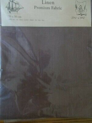 "Cross stitch Fabric Linen "" Koffee Bean"" New by Permin 28ct   27.5"" x 19.5"""