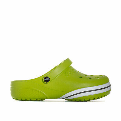 Children Crocs Clogs Kilby Beach Shoes In Green- Slip On Design- Roomy Fit-