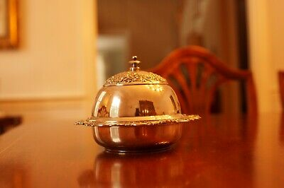 Antique Meridian Co Silverplate Butter Dish