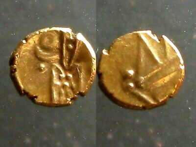 GOLD FANAM OF THE INDIA DUTCH VOC____Minted in Tuticorin____KALI - HINDU GODDESS