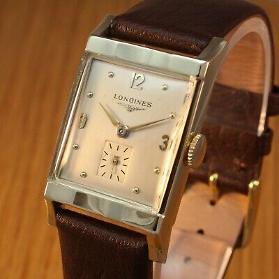 1938 LONGINES 14K SOLID GOLD Vintage Swiss Deco Watch / 82 years old / SERVICED