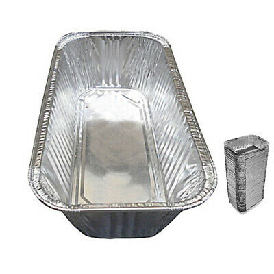25 Pack 3 Lb Aluminum Foil Loaf Pan Disposable Bread Container Baking Tins New