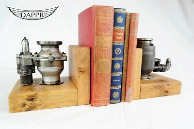 Pressure Valve Bookends - Garrett Aircraft Upcycled Aviation