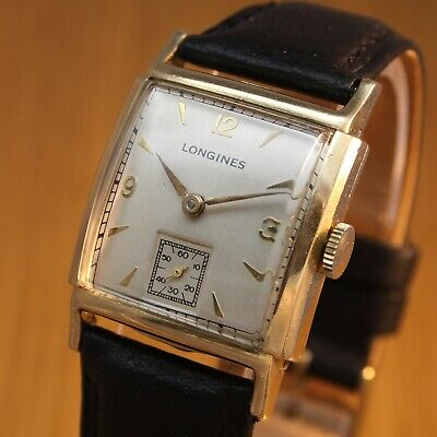 1946 LONGINES Vintage Swiss Art Deco Watch / 74 years old / Gold Fld / SERVICED